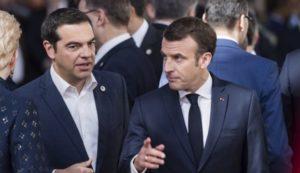 Παρουσία γαλλικών φρεγατών σε Ελλάδα και Κύπρο υποσχέθηκε ο Μακρόν στον Τσίπρα