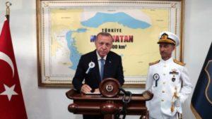 Η «γαλάζια πατρίδα» του Ερντογάν περιλαμβάνει το μισό Αιγαίο