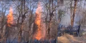 Με φλεγόμενο δέντρο Τούρκοι και λαθρομετανάστες χθες βράδυ προσπάθησαν να ρίξουν τον φράχτη